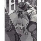 borduurpakket jazz muzikant, bass