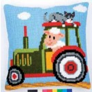 kruissteekkussen boerderij, tractor