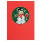 borduurpakket kerstkaart, sneeuwman