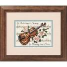 borduurpakket viool met bloemen (klein)