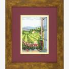 """borduurpakket """"wijn en het goede leven"""" (klein)"""